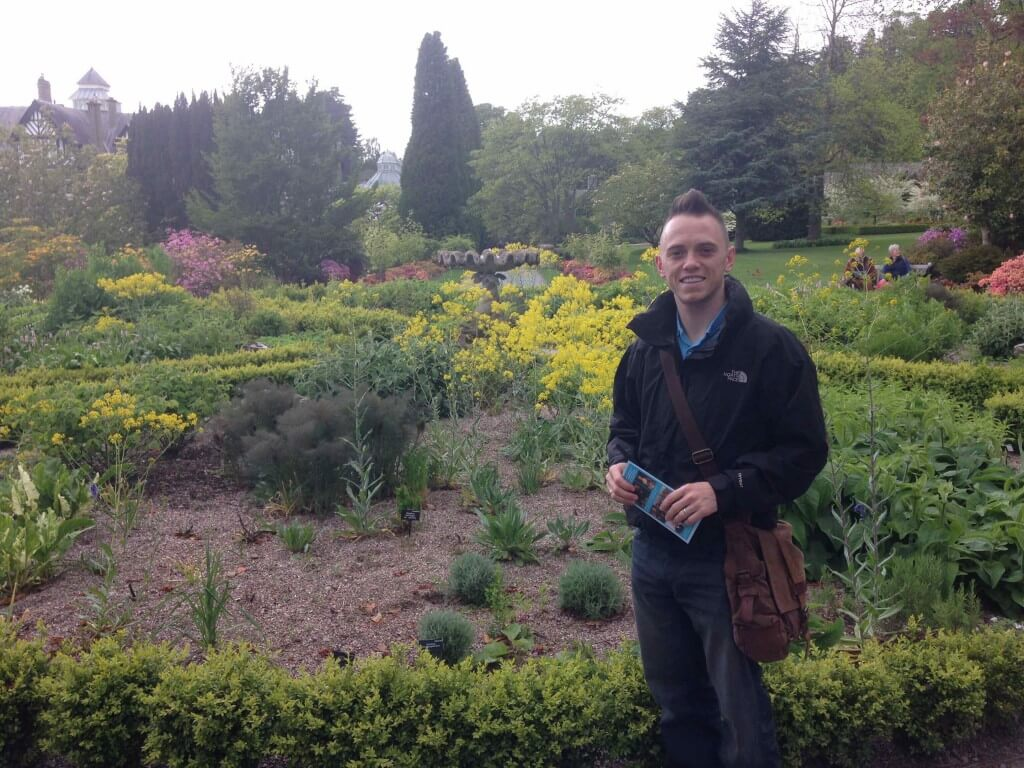 Garden Ninja stood at Bodnant Gardens smiling