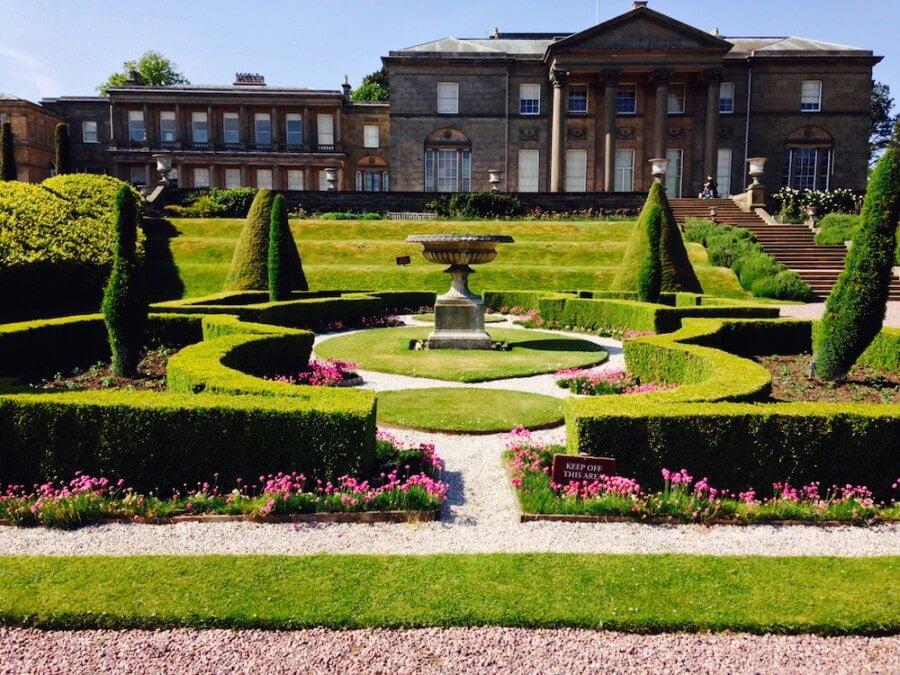 A formal garden at Tatton park
