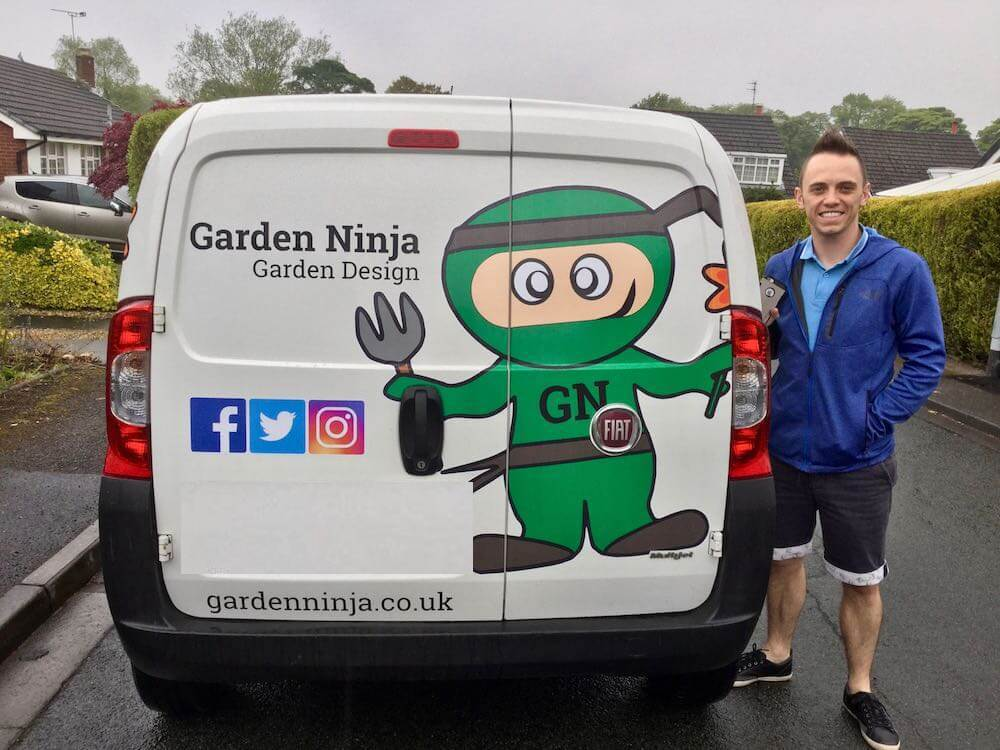 Garden Ninja and his van