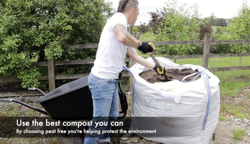 Garden Ninja mulching a garden border