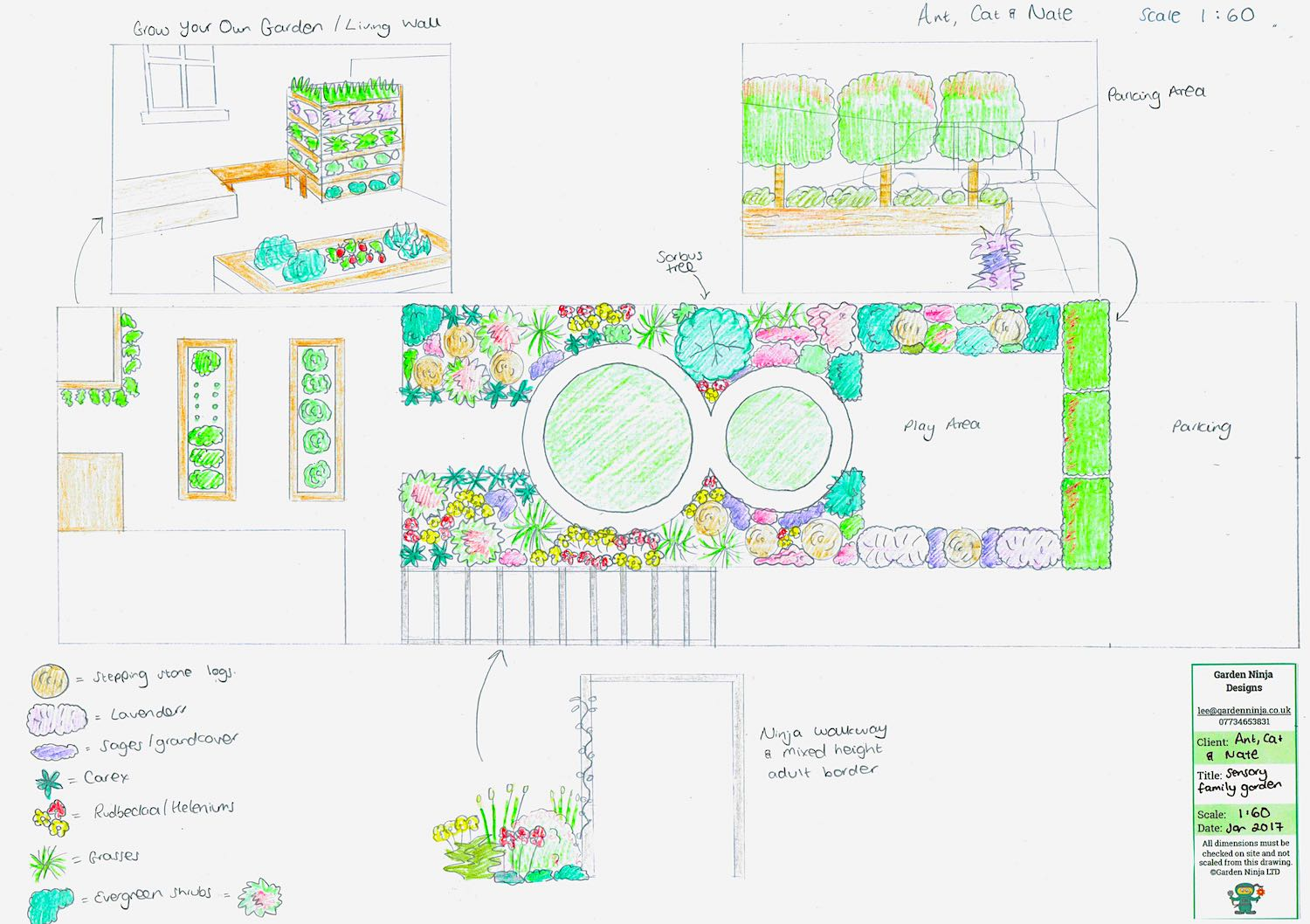 A child friendly garden design