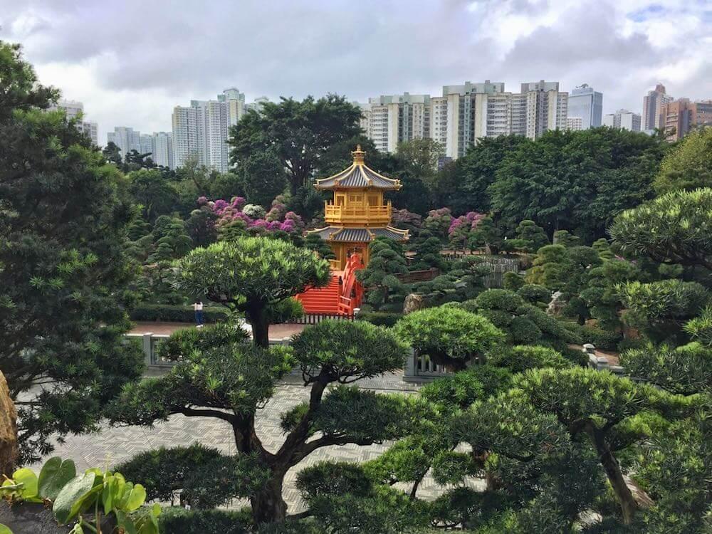 The skyline in Hong Kong of Nan Lian