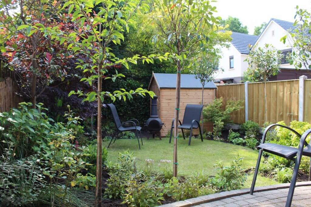 A small private courtyard garden designed by Garden Ninja