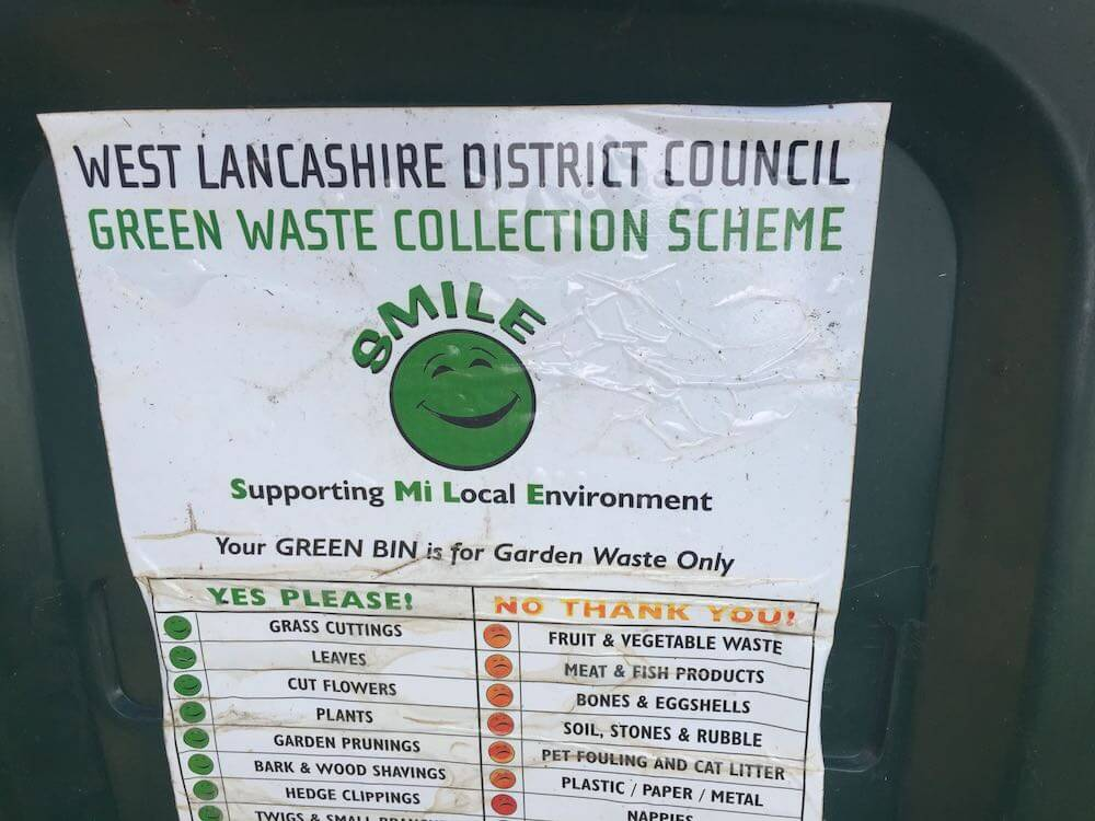 A waste collection sticker