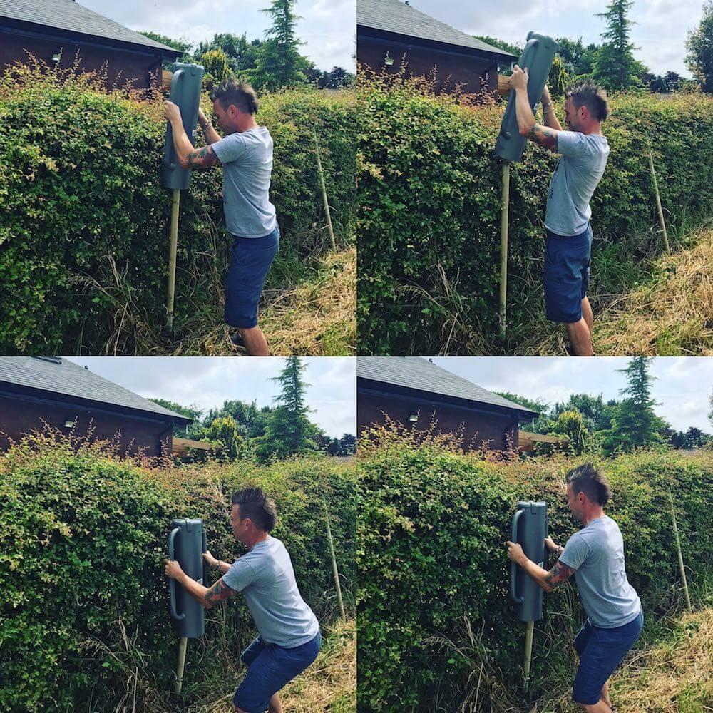 Award winning Garden Ninja building a fence