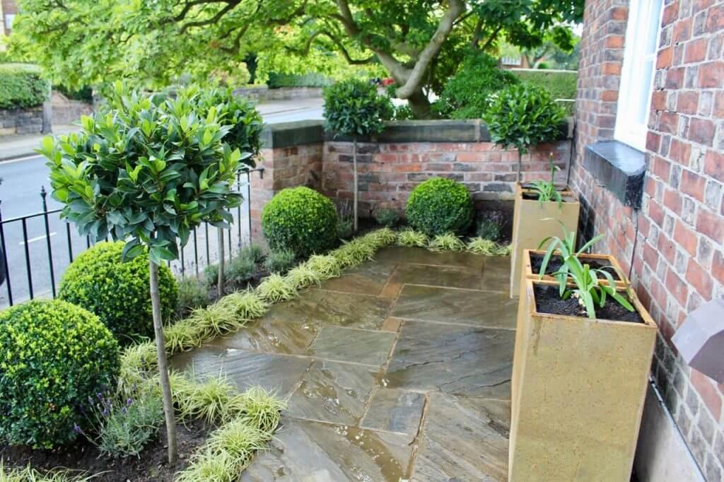A clean modern front garden makeover in Manchester