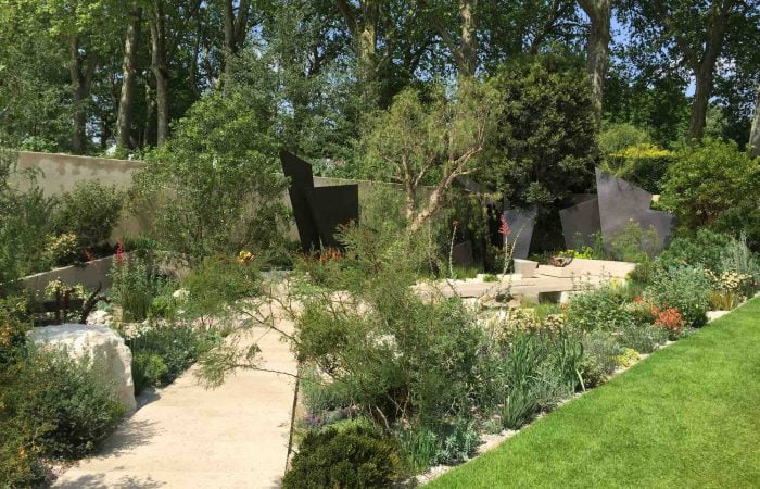 A modern yet natural garden at RHS Chelsea