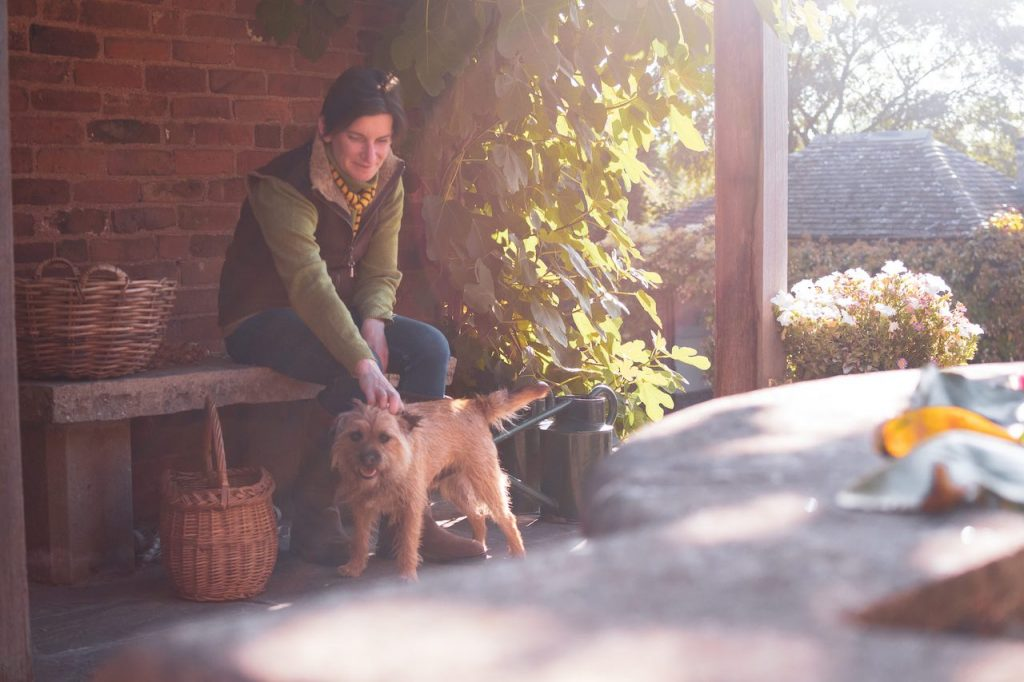 Tamsin Westhorpe and dog Larry