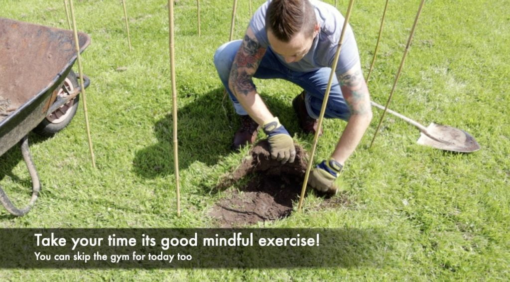 Garden Ninja lifting turf for a fire pit design