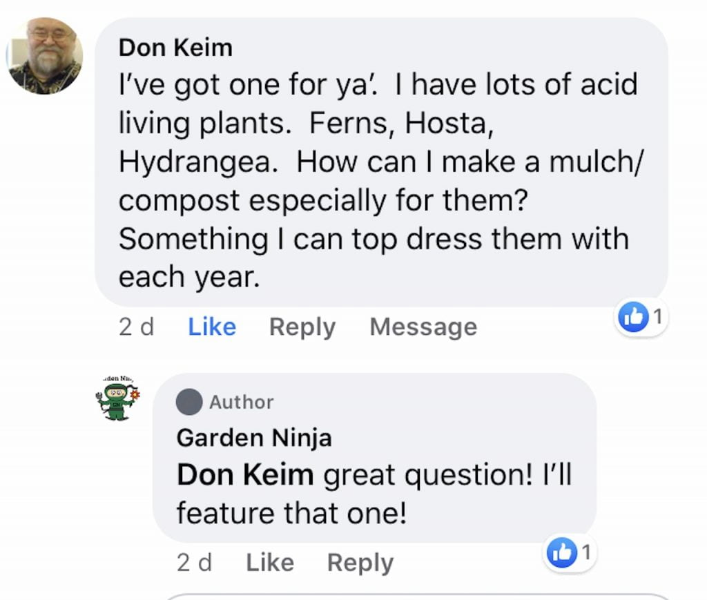 A gardeners question from Don