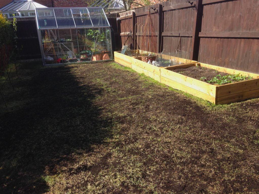 A new scarified lawn