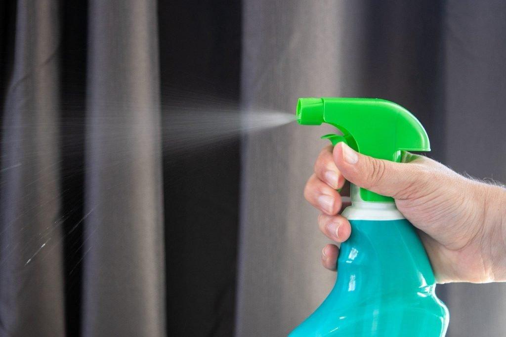 Glyphosate in a weed spray bottle